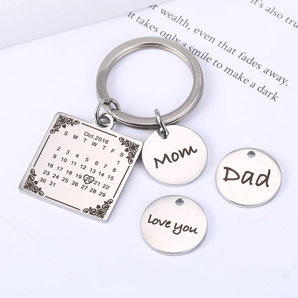 New Design Personalized Calendar Keychain-colorulife.com