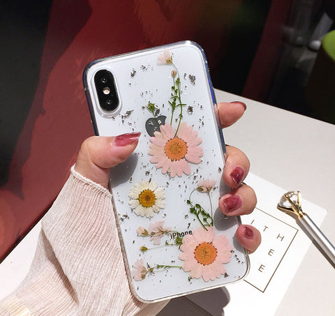 Luxe Pressed Flower Protective iPhone 11 Case Cute