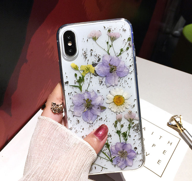 best service 86926 a565e Luxe Pressed Flower Protective Phone Cases For iPhone XS
