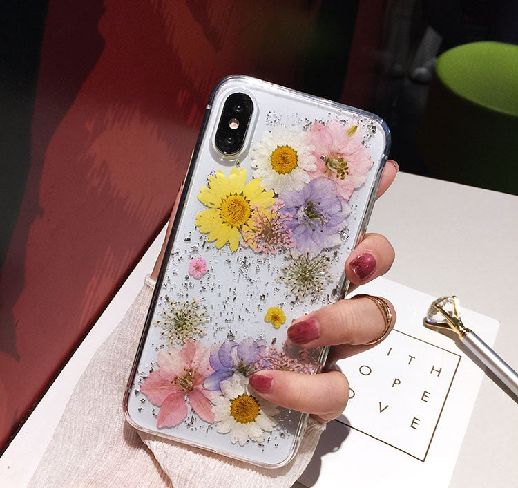 best service 5898d b2abd Luxe Pressed Flower Protective Phone Cases For iPhone XS
