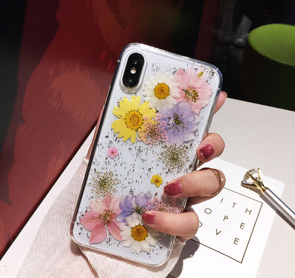 Luxe Pressed Flower Protective Phone Cases For iPhone XS & iphone11