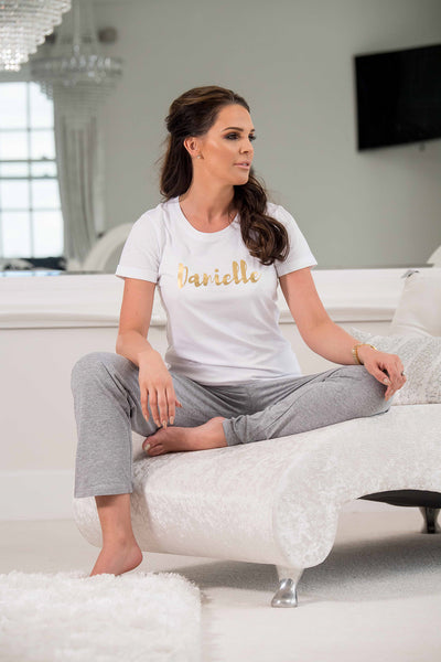 'LADIES PERSONALISED PJ'S' LONG