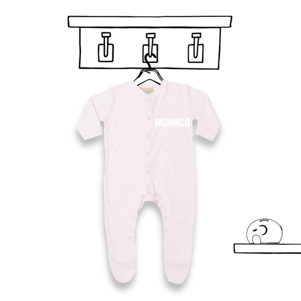 'LONG SLEEVED PERSONALISED SLEEPSUIT'