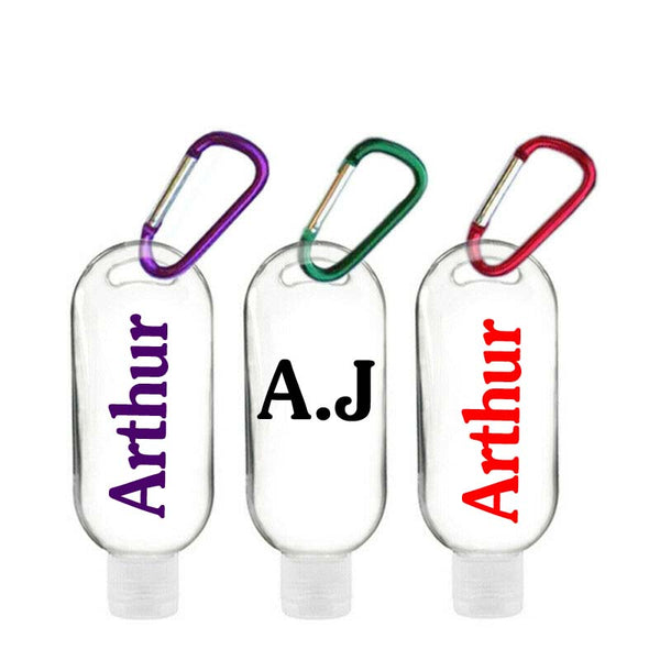 'PERSONALISED' HAND SANITIZER BOTTLES