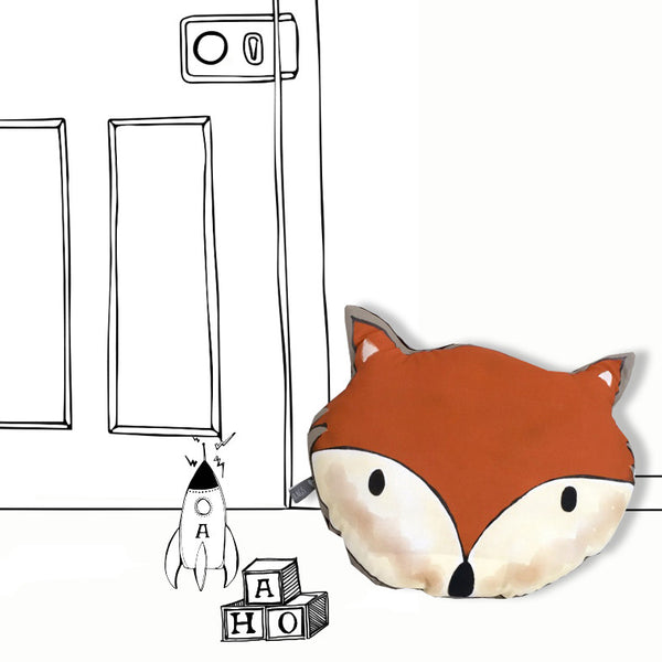 'FOX HEAD' - PILLOW (ORANGE)