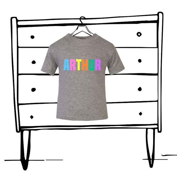 'PERSONALISED' PASTEL NAME TEE