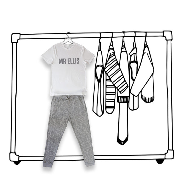'PERSONALISED MENS PJ'S' LONG