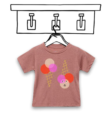 'ICE CREAM' UNISEX MAUVE CHILDREN'S TEE