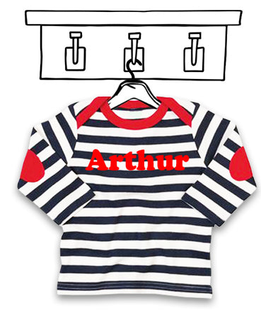 STRIPEY LONG SLEEVED 'PERSONALISED' TEE