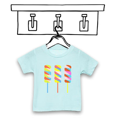 'LOLLIPOP' UNISEX ICE BLUE CHILDREN'S TEE