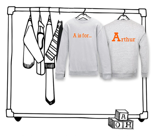 'PERSONALISED DOUBLE SIDED NAME SWEATER'...