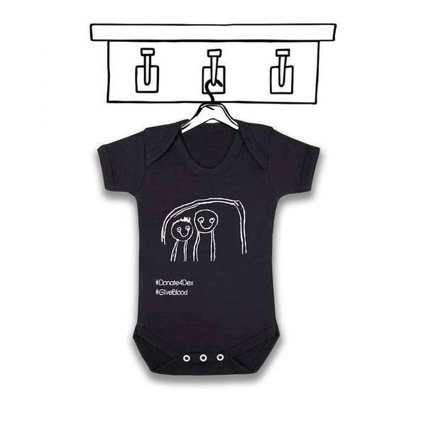 '#DONATE4DEX' UNISEX CHARITY BABYGROW