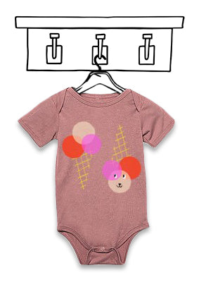 'ICE CREAM' MAUVE UNISEX BODYSUIT