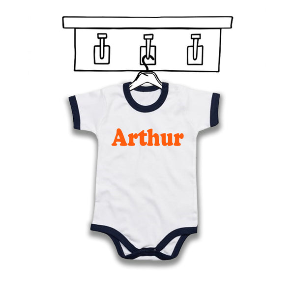 BABY 'PERSONALISED' RETRO BODYSUIT