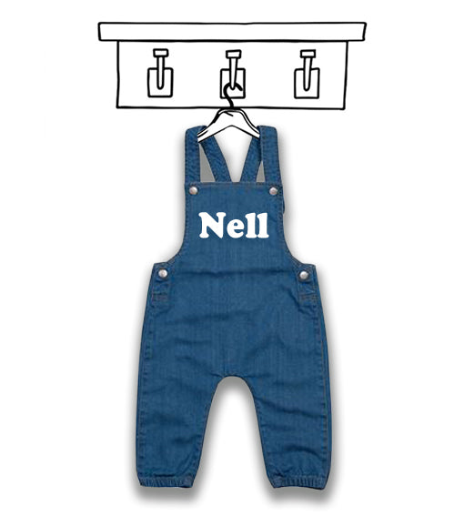 UNISEX 'PERSONALISED' RETRO DENIM DUNGAREES