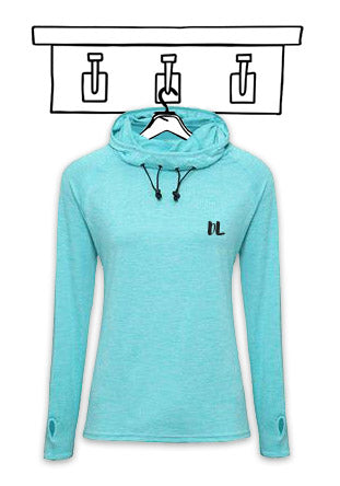 'PERSONALISED' COWL NECK LIGHTWEIGHT TRAINING HOODIE...