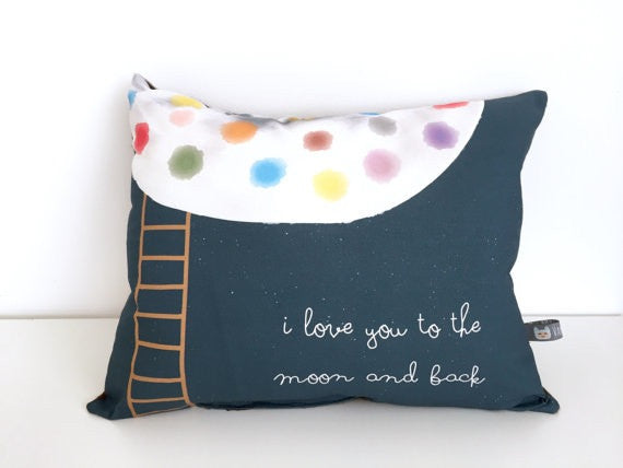 'I LOVE YOU TO THE MOON AND BACK' - PILLOW