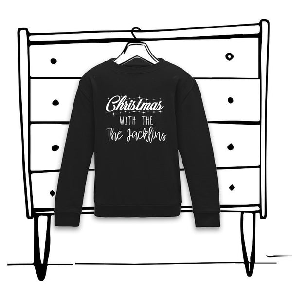 'CHRISTMAS WITH THE'... PERSONALISED FAMILY JUMPER - KIDS