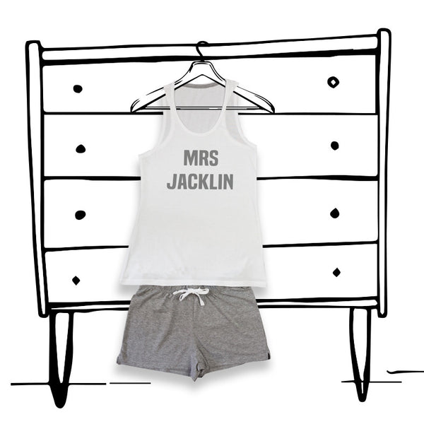 'PERSONALISED LADIES PJ'S' SHORT