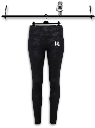 PERSONALISED' BLACK CAMO FULL LENGTH LEGGINGS...