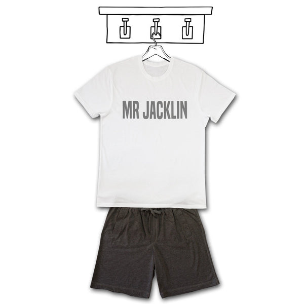 'PERSONALISED MENS PJ'S' SHORT