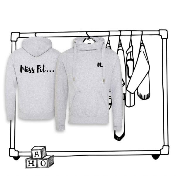 'PERSONALISED' MISS FIT CROSS NECK HOODIE...