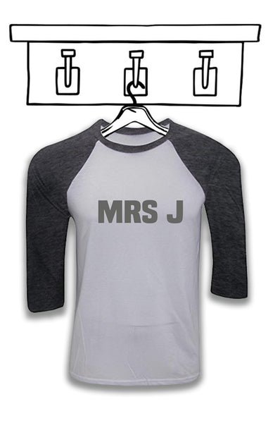 LADIES & GENTS 'PERSONALISED BASEBALL TEE'