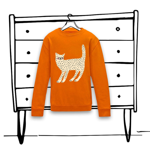 'CURIOUS CAT' SWEATER