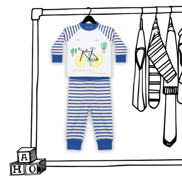 'BICYLE' UNISEX KIDS PJ'S