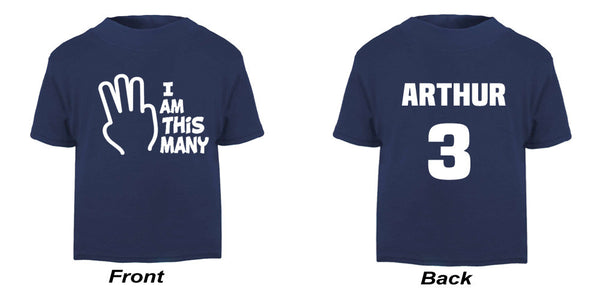 'I AM THIS MANY' UNISEX BIRTHDAY TEE