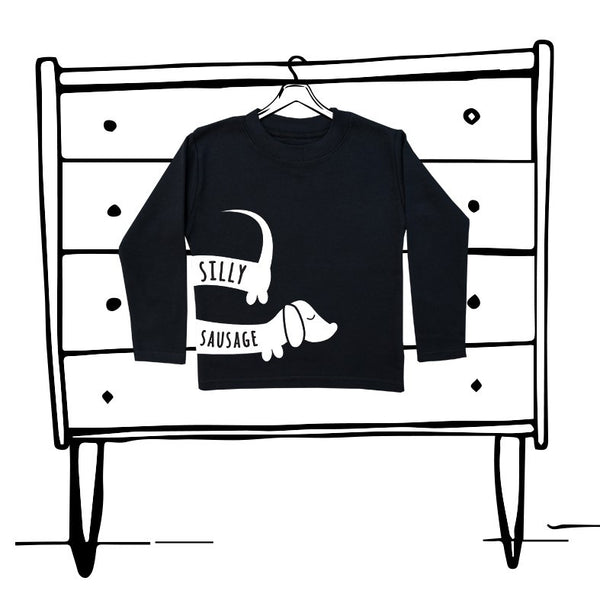 'SILLY SAUSAGE' UNISEX LONG SLEEVED TEE