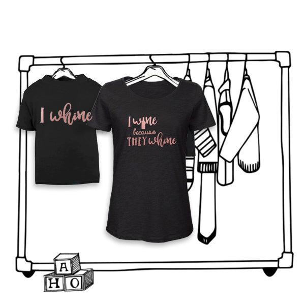 'I WINE' LADIES TWINNING TEE