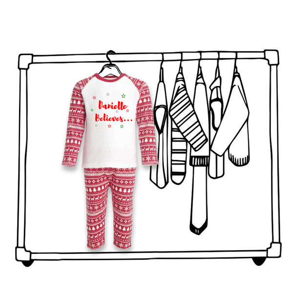 'PERSONALISED CHRISTMAS PJ'S'...
