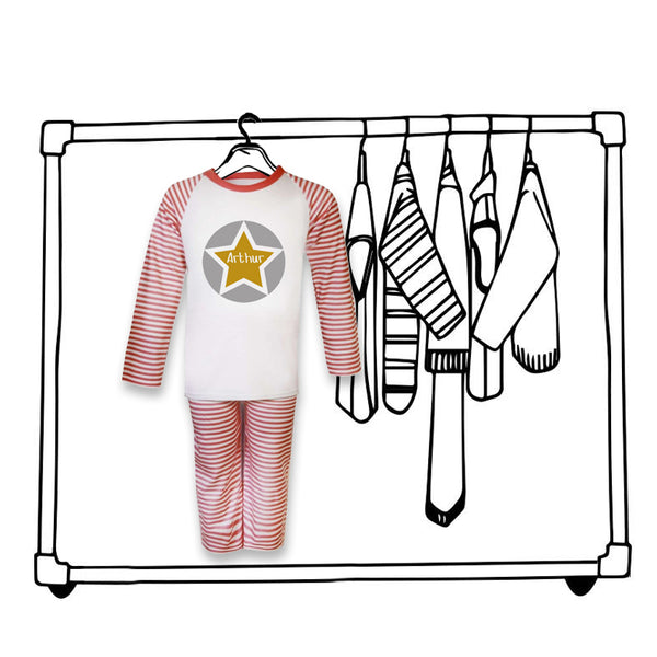 'PERSONALISED STAR CHRISTMAS PJ'S'...