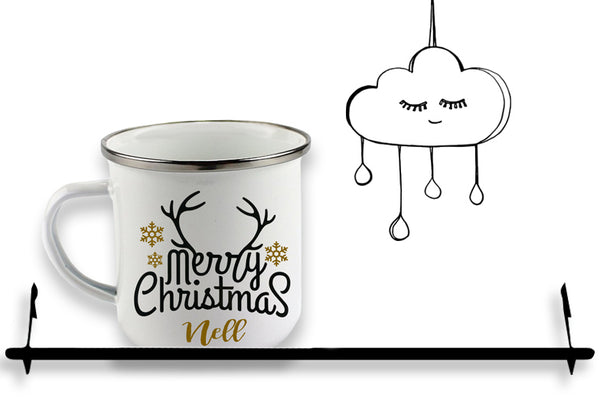 'PERSONALISED' CHRISTMAS ENAMEL MUG...