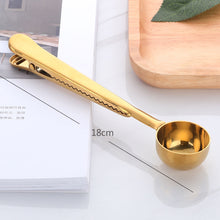Load image into Gallery viewer, Coffee Spoon With Bag Seal Clip