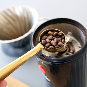 Coffee Spoon With Bag Seal Clip