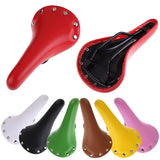 Riveted Leather Cycling Saddle