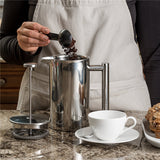 Double Wall Stainless Steel French Press Coffee Pot