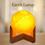 3D Earth Lamp Color Changing Remote