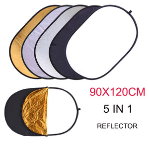 5 in 1 Collapsible Reflector 90x120cm