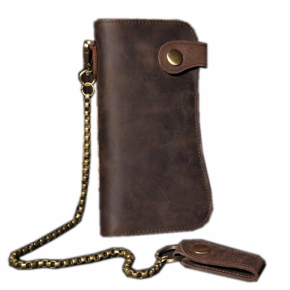 Men's Leather Wallet With Chain