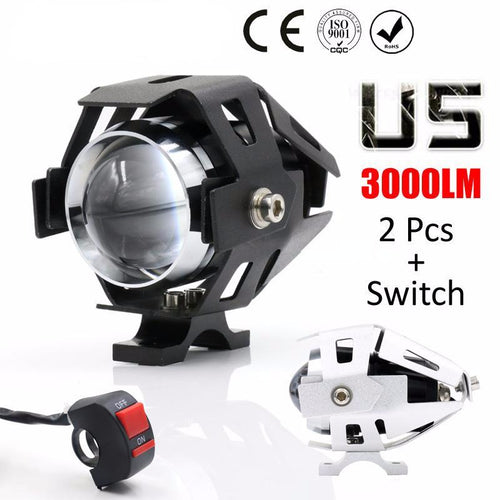 2PCS Motorcycle LED Headlight