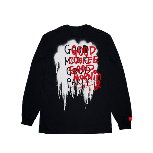 BLACK POCKET LONG SLEEVE w/Stencil GCGM