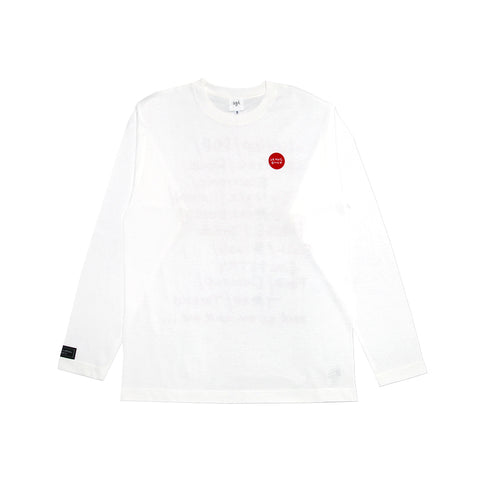GB RED ONE POINT WHT LONG-SLEEVE w/PLAYLIST