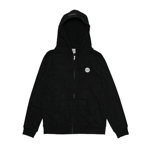 GB WHITE ONE POINT BLK ZIP-UP