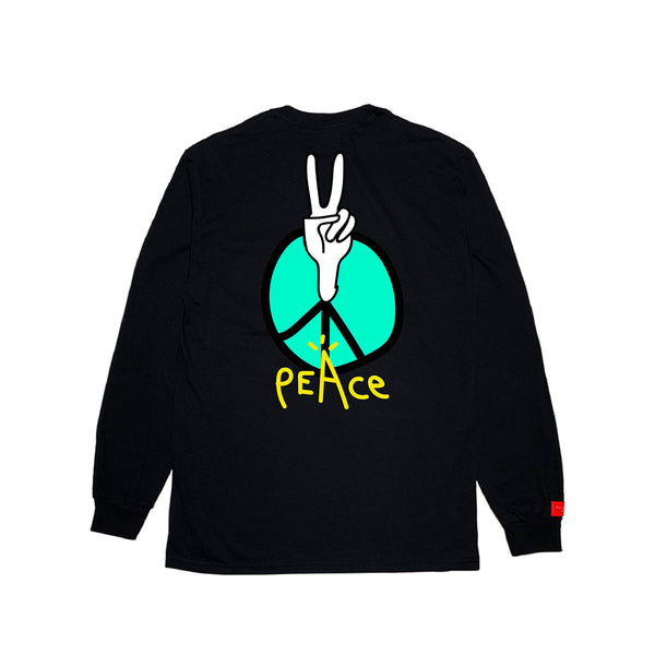 inspirationT-Peace BLK POCKET LONG SLEEVE