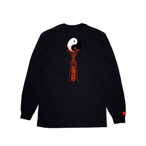 inspirationT-YinYang BLK POCKET LONG SLEEVE