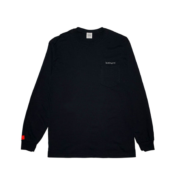 inspirationT-TransparentEye BLK POCKET LONG SLEEVE
