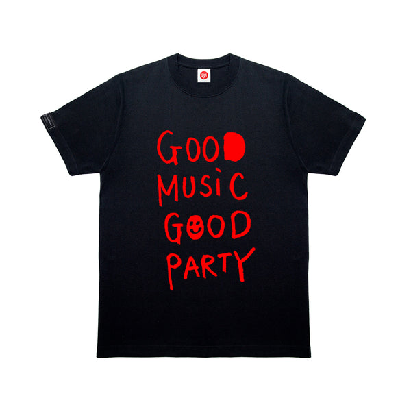 GMGP RED LOGO BLK T-SHIRT